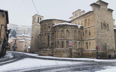 Histórica nevada en Toledo